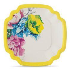 Poppytalk 10ct Paper Plates - Floral