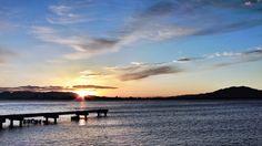 13 Feb. 7:14 博多湾の日の出です。 #sunrise  at the Hakata bay in Japan