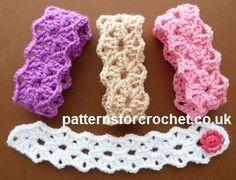 patrón de crochet libre Pulsera puntiagudo EE.UU.