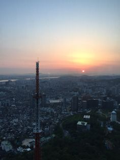 Sunset from NSeoul Tower