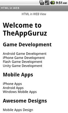 HTML in WebView Android Game Development, Unity Game Development, Unity Games, Android Developer, Mobile App Design, Android Apps, Cool Designs