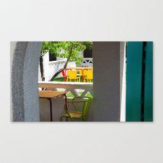 CAFET Stretched Canvas by Sébastien BOUVIER - $85.00 Stretched Canvas, Decoration, Stretches, Outdoor Decor, Design, Home Decor, Decor, Decoration Home, Room Decor
