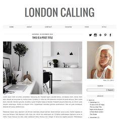 London Calling - A modern, minimal Blogger/Blogspot Template