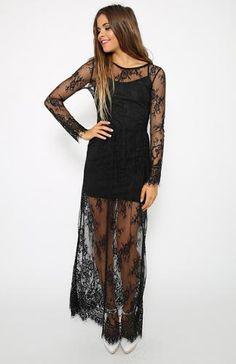 Bella Lace Dress - Black