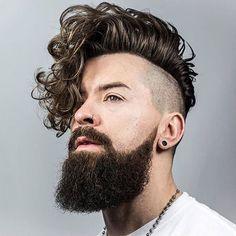 Cheveux frisés, Hommes, Barbe, Ondulés, Épais, Styles, Droits