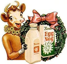 Vintage Borden's Christmas Egg Nog ad * 1500 free paper dolls Christmas gifts artist Arielle Gabriels The International Paper Doll Society also free paper dolls The China Adventures of Arielle Gabriel *