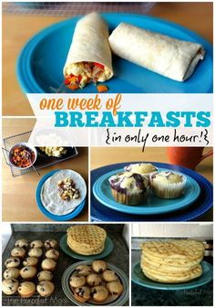 Make One Week of Breakfasts in 1 Hour and keep mornings stress free! - from ThePeacefulMom.com