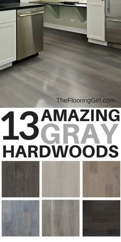 grey flooring 13 Amazing Gray Hardwood Floors You Can Buy Online White Laminate Flooring, Grey Hardwood Floors, Hardwood Floor Colors, Prefinished Hardwood, Refinishing Hardwood Floors, Grey Flooring, Engineered Hardwood, Flooring Ideas, Flooring Types