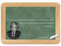 Nelson Mandela... on Forgiving