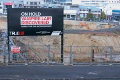 True blood ad- cleverly placed on a building site