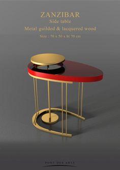 Zanzibar Side Table - Pont des Arts - Designer Monzer Hammoud - Paris -
