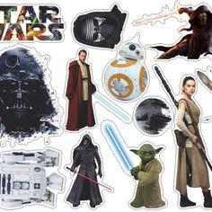 25 Disney Star Wars Darth Vader R2D2 Strom Trooper Mikey Coffee Laptop Stickers