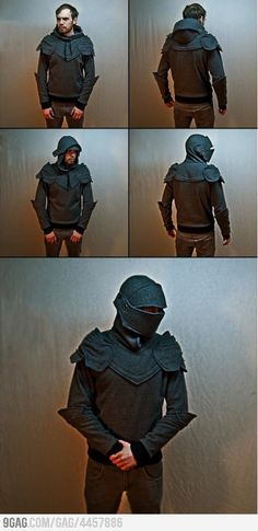 Novelty wear: Grey Knight Armored Hoodie. Crazy!  Love it. I'll have to make one of these!  Lol!