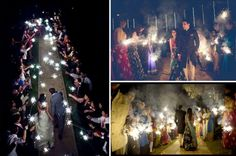 And this spectacular sparkler exit. | This Couple Tried Pinterest DIYs For Their Indian Wedding And They...