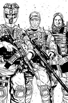 The ACTIVITY Crye Precision ad Lineart by *MitchGerads on deviantART