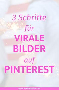 Virale Bilder auf Pinterest boosten deinen Blog und führen zu enormem Wachstum. Das Ziel eines tollen Pinterest-Fotos sollte es sein, möglichst viele User zum Repinnen, Liken und Klicken zu animieren. Dadurch gewinnt dein Foto schnell an Popularität und wird im Idealfall sogar viral.  Erfahre mehr über meine 3 Schritte für virale Bilder auf Pinterest!