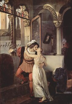 The Last Kiss of Romeo and Juliet by Francesco Hayez, 1823
