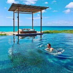 Tag who you'd swim with!!! Follow ✨✨@timothysykes✨✨ for incredible lifestyle/travel posts!!! Loc: Turks and Caicos  Go See, Turks And Caicos, Wonderful Places, Around The Worlds, Relax, Swimming, The Incredibles, Patio, Island