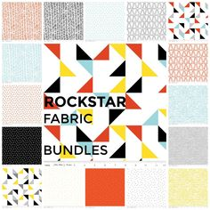 Creative Rockstar Fat Quarter Bundle by Riley Blake Designs. Premium Cotton Quilting Fabric available in half yard and fat quarter bundles by BrewStitched on Etsy