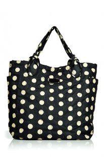 Marc By Marc Jacobs Black and Cream Dots Medium Handbag
