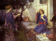 John William Waterhouse, Annunciation English, 1914 Private Collection