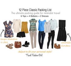 12 Piece Classic Packing List thumb