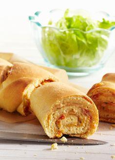 Partybaguette #hochland #käse #rezept #recipe  #snack #ofenaufstrich #cheese