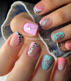 Nail Designs Pictures, Cute Nail Art Designs, Summer Acrylic Nails, Cute Acrylic Nails, Dope Nails, Swag Nails, Acylic Nails, Nail Jewelry, Nail Candy