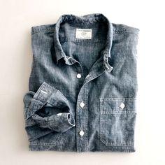 j. crew denim shirt the perfect layering piece