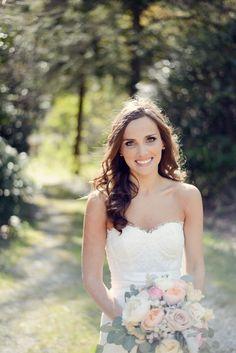 bridal hair; down wedding hair; boho bride; bridal makeup hair by Christine Pay mu Kisha Minter
