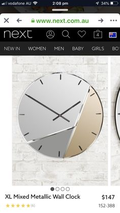 Clocks, Metal, Wall, Home Decor, Decoration Home, Room Decor, Watches, Metals