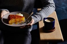 O Tama Carey's lemon polenta cake with limoncello and citrus syrup. Check out The Seasonal Cook's column for tips and recipes. Lemon Polenta Cake, Polenta Cakes, Lemon Drink, Cake Mixture, Citrus Juice, Winter Food, Food Preparation, Tapas, Syrup