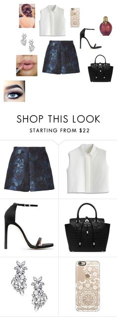 """Girls Night Out"" by eliz4599 ❤ liked on Polyvore featuring Valentino, Chicwish, Stuart Weitzman, Michael Kors, Topshop and Casetify"