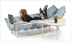 This 'Inchworm' Lounge Chair Is Like A Cradle For Adults