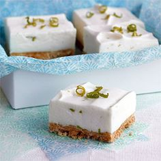 Key Lime Squares with Macadamia crust