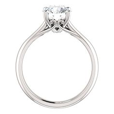 Love this one too Forever Brilliant Moissanite Design Solitaire Engagement Ring in 14k White or Yellow Gold 7.5mm 1.50 Ct (4)