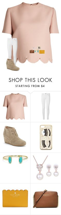 """•heartbroken💔•"" by mackenzielacy814 on Polyvore featuring Valentino, Burberry, TOMS, Chiara Ferragni, Kendra Scott, Kate Spade and MICHAEL Michael Kors"