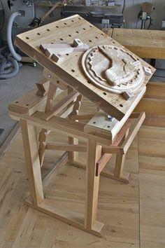 верстак, стол для резьбы. | Резьба по дереву, кости и камню