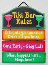 Tiki Bar Signs- need this for the hot tub