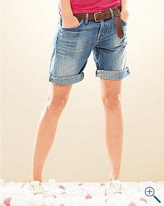 Roll-Up Boyfriend Shorts [Garnet Hill]