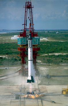The Mercury Redstone. This one carried Alan Shepard into sub-orbit space on May 5th, 1961. On a personal note, this is, in my opinion, the most beautiful rocket NASA ever launched.