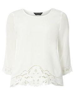 Ivory Embroidery Top