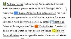 Interesting take on the portfolio website by designer/developer Andrew Herzog. Loving the mini inline video previews.