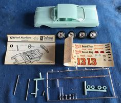 AMT 1960 Ford Galaxie Starliner Hardtop Vintage Screw Chassis Model Kit Promo | eBay