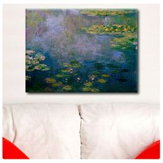 "Canvas Print ""Water lilies"" By Claude Monet photos reproduction Repro decor gallery Artwork Giclee fine art print poster wall art on Etsy, $17.90"