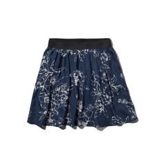 Abercrombie & Fitch Floral Skater Skirt (1.580 RUB) ❤ liked on Polyvore featuring skirts, bottoms, navy floral, floral print skirt, floral print skater skirt, navy blue skirt, elastic waist skirt and circle skirt