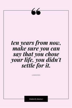 Never settle!