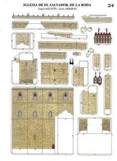 3D Paper House Print Out | La Iglesia Del Salvador De La Roda - Spanish Church Paper Model
