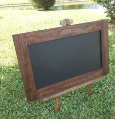 Rustic Framed Chalkboard-Handmade Frame by AtticJoys1 on Etsy