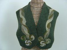 Boleros & Shrugs - Kleiner Hirten- Poncho lodengrün - ein Designerstück von hofatelier-mode bei DaWanda